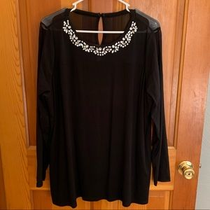Black Blouse with Gems